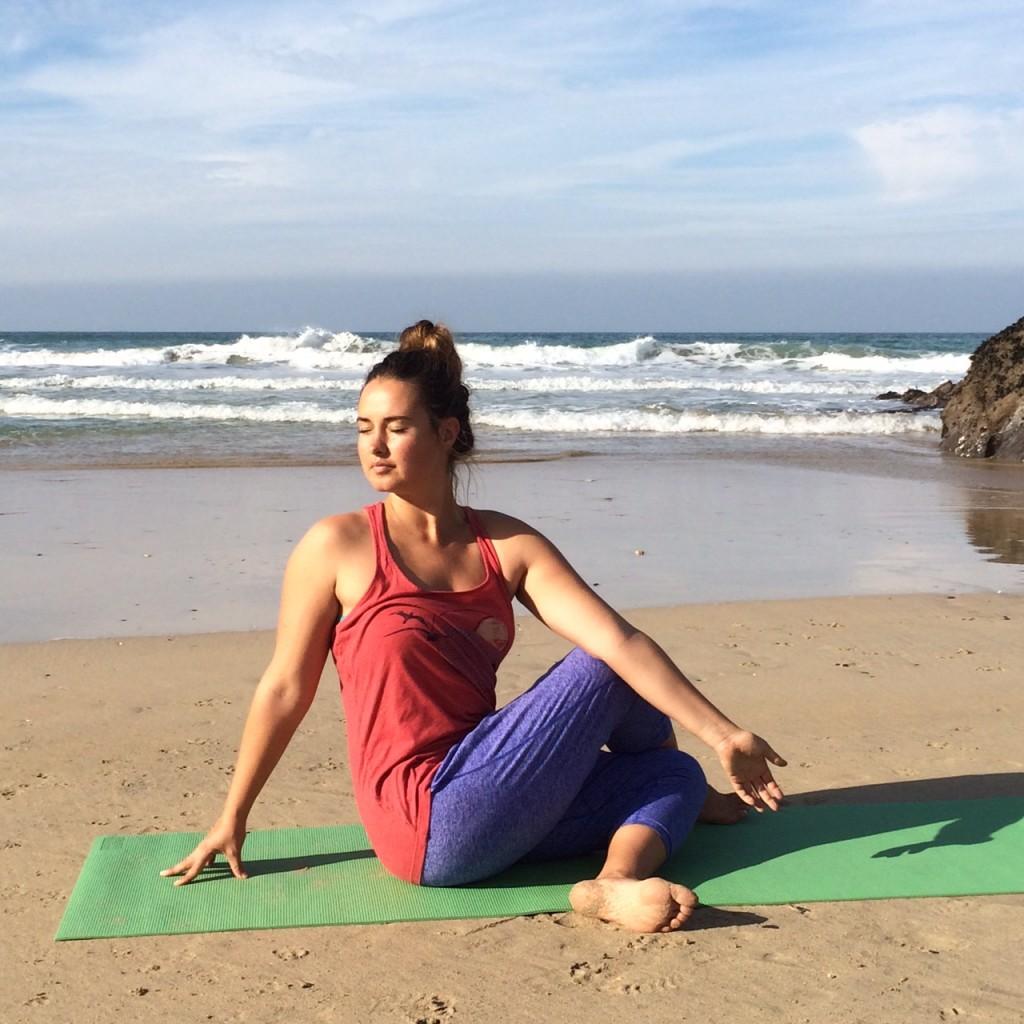 Yin Yoga Sequence Seated Twist Pose